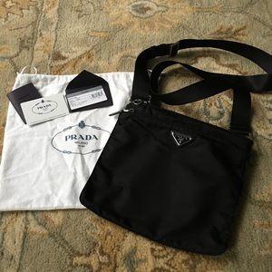 Prada Vela Nylon Crossbody Handbag